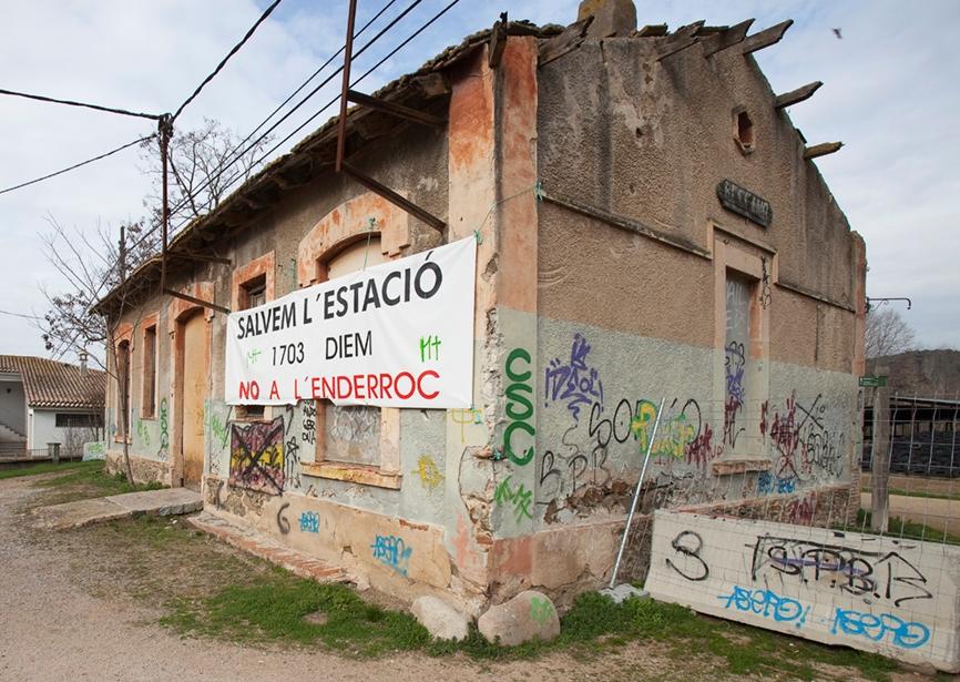 Antiga estació de Bescanó. Foto: Jordi S. Carrera - ICRPC